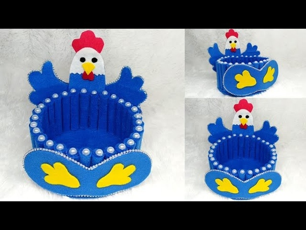 Ide membuat tempat permen model ayam dari kain flanel || candy ayam || candy merak || candy barbie