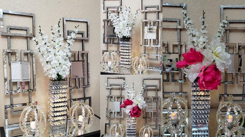 DIY Glam Wayfair Inspired Dupe| Dollar Tree DIY Glam Mirrored Home Decor