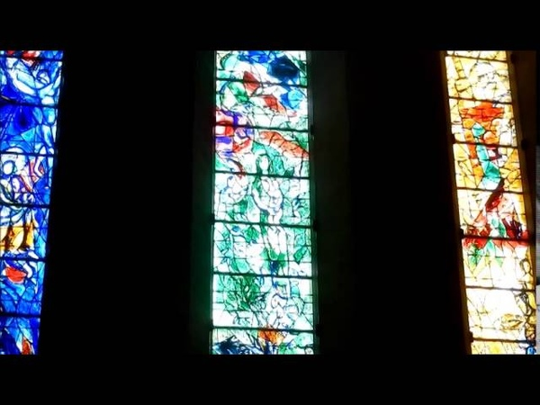 Витражи Марка Шагала в Цюрихе. Marc Chagall's stained glass in Zurich