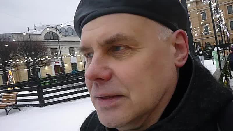 Рождественный сочельник в Петербурге Улица Итальянская близ Михайловского замка 6 января 2019 г