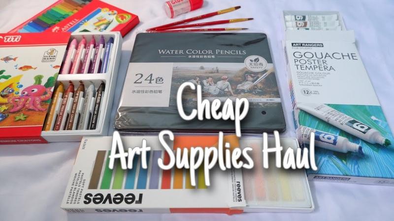 CHEAP ART SUPPLIES HAUL l 30 50 Ribu TITI premium Deli watercolor pencil reeves gouache