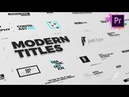 Just Type Modern Titles For Premiere Pro MOGRT Envato Templates