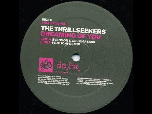 The Thrillseekers Dreaming Of You Flutlicht Remix 2002