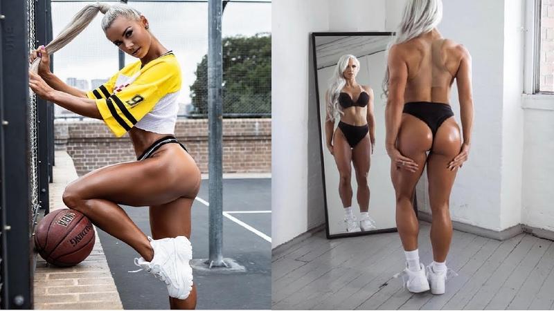 Lauren Simpson Beauty Blonde Fitness HOT Australian WBFF BIKINI WORLD CHAMPION