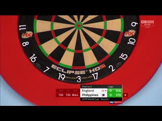 England vs Philippines (PDC World Cup of Darts 2019 / Round 1)