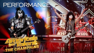 """KISS Performs """"Rock and Roll All Nite"""" LIVE! - America's Got Talent: The Champions"""