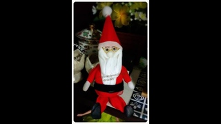 EP 62:How to make  santa claus nylon / stocking flower by ployandpoom (ผ้าใยบัว