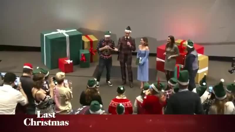 From last week's Berlin Fan Premiere of Last Christmas when the audience sang Last Christm