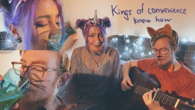 Drunk halloween unicorn and cat doing a cover on Know How┃Kings of Convenience┃