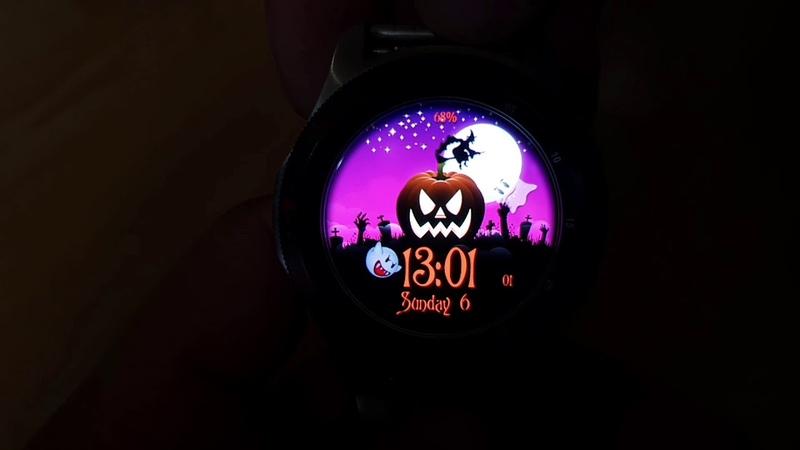 Halloween Animated WW37 Watchface for Samsung Gear Samsung Galaxy watch