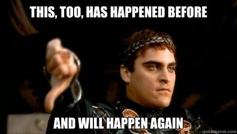 """Это уже случалось раньше - и случится еще. Есть """"before"""" - поэтому использовано Present Perfect"""