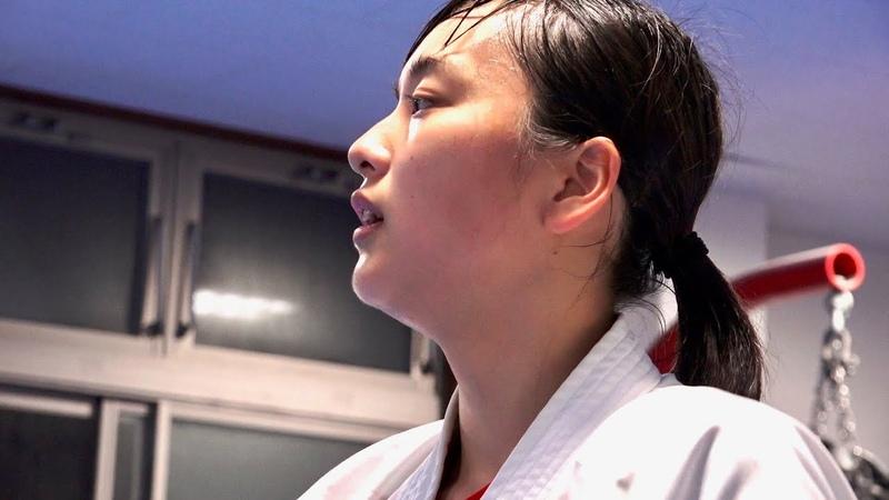 16歳の高速パンチ女子高生が道場で全力稽古する映像【目代結菜・新極真会 東京城南川崎支部】A 16-year-old Shinkyokushinkai Karate Girl!