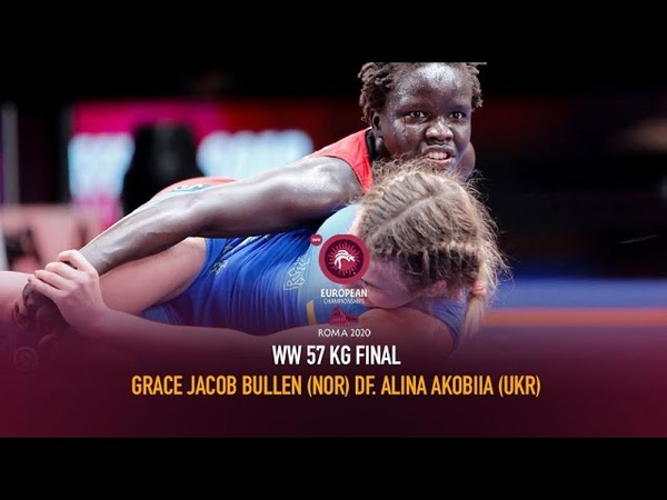 Watch European Wrestling Championship Final WW 57kg Grace Jacob NOR vsb Alina AKOBIIA UKR