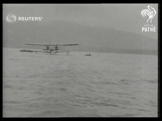 NORTHERN IRELAND / AVIATION: Sir Alan and Lady Cobham arrive at Belfast (1928)