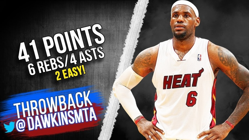 LeBron James Full Highlights 2012.04.03 Heat vs 76ers - 41 Pts, 6 Rebs, 4 Assists! VintageDawkins