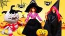 Видео про куклы Барби! Игрушки прячут тыквы на Хэллоуин!