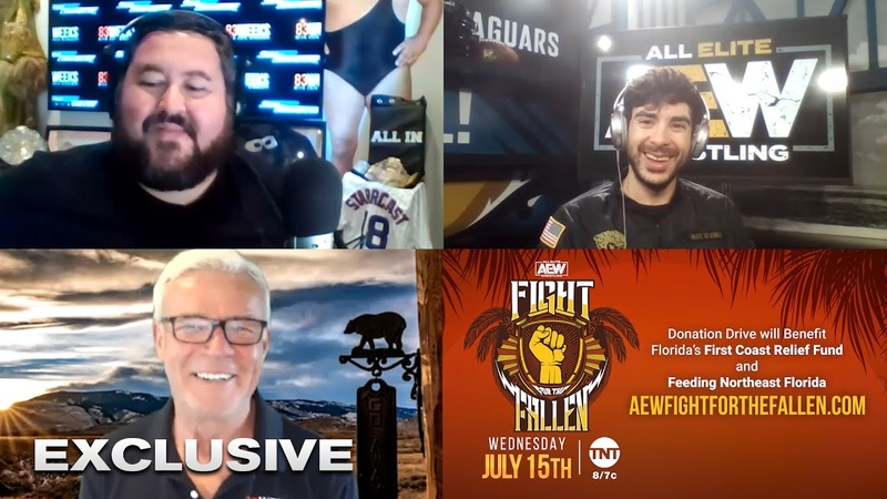 AEW Fight For The Fallen Preview Tony Khan Meets Eric Bischoff, with 83 Weeks' Conrad Thompson