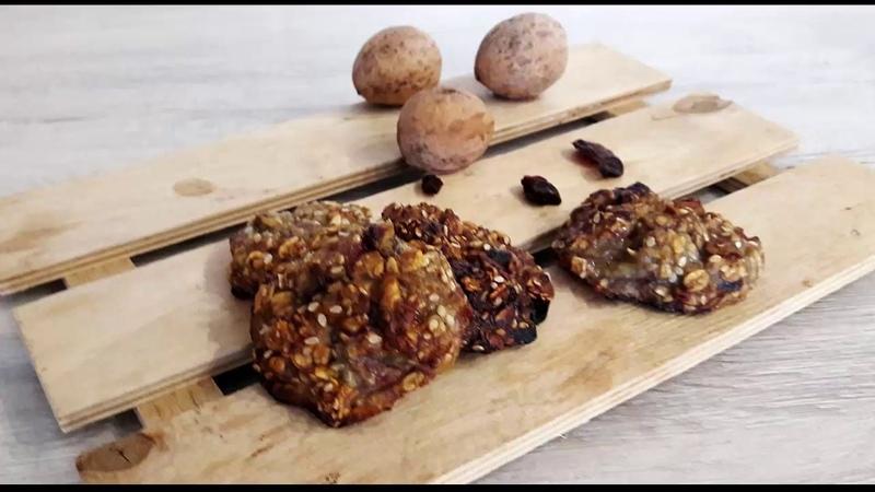 Бананово овсяное ПП печенье Banana oatmeal healthy cookies