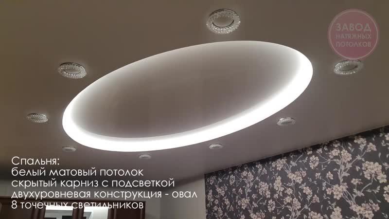 Натяжные потолки Вологда Четырехкомнатная квартира под ключ