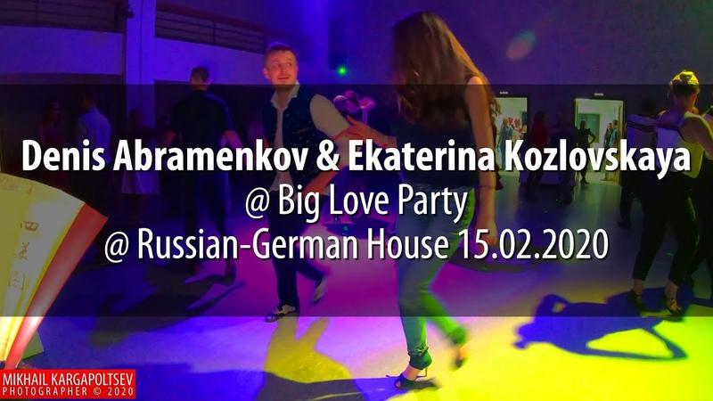 Denis Abramenkov Ekaterina Kozlovskaya social dancing @ Russian-German House 15.02.2020