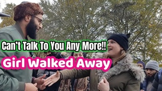 Girl Walked For Declining A Hand Shake Mohmmed Hijab Speakers Corner 2019