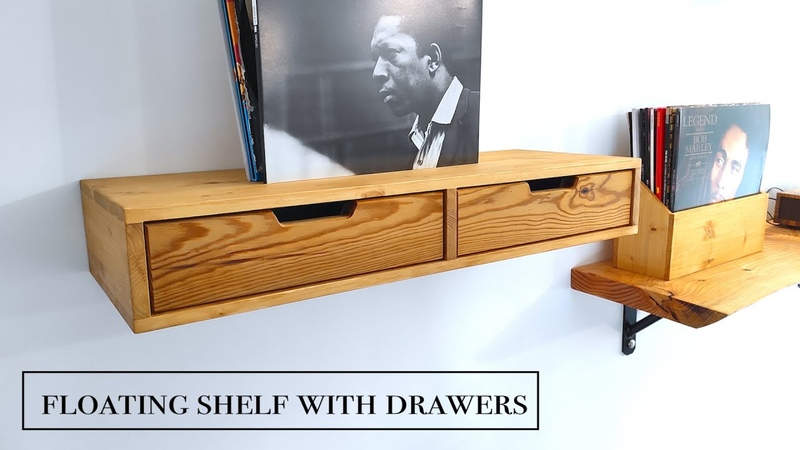 Floating shelf with drawers Mensola con cassetti
