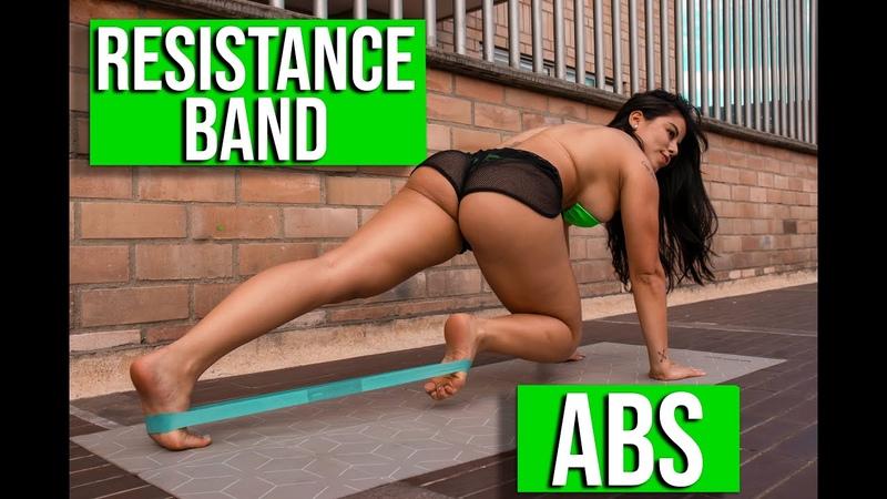ABS with RESISTANCE BAND ABDOMINALES con BANDA ELASTICA 🍫