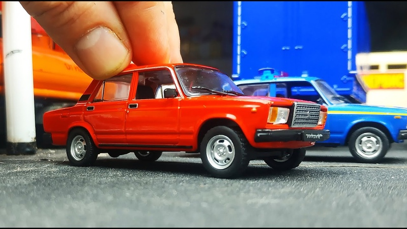 Моделька машинка ВАЗ 2107 Семерка масштаб 1/43 Автолегенды №262 распаковка и обзор! Про машинки!