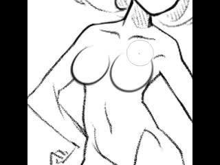 гайд: как легко и быстро нарисовать грудь