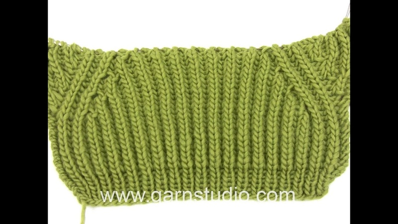 How to knit the false raglan in DROPS Extra 0-898