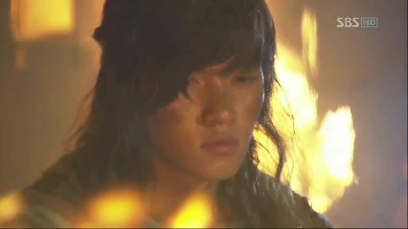 Эпизод из дорамы Воин Пэк Тон Су 14 сер Тон Су ожил