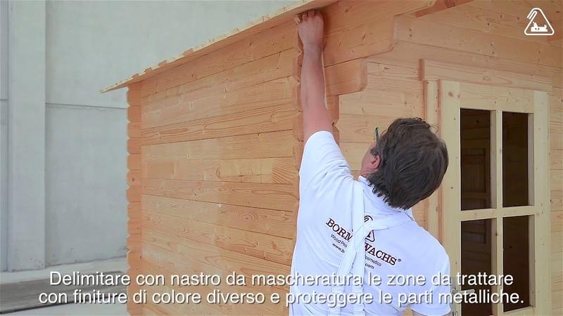 Trattamento per esterni Ciclo di finitura di una casa in legno con Dekorwachs Lasur 3 in 1