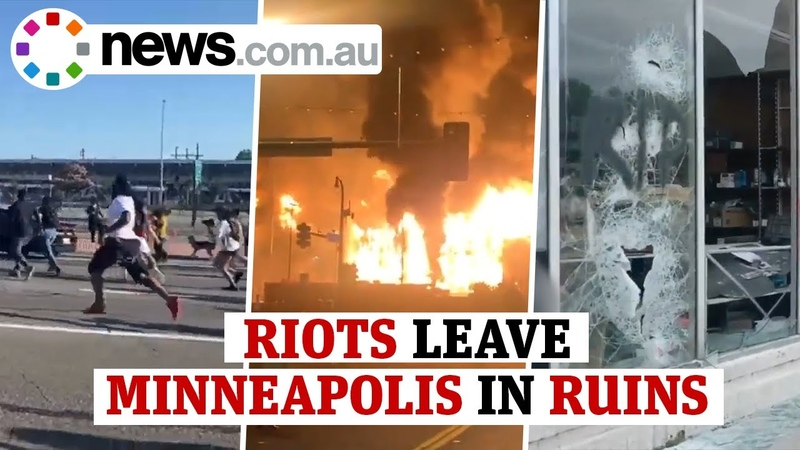 Minneapolis riots: Shocking footage of chaos sparked across US after George Floyd death