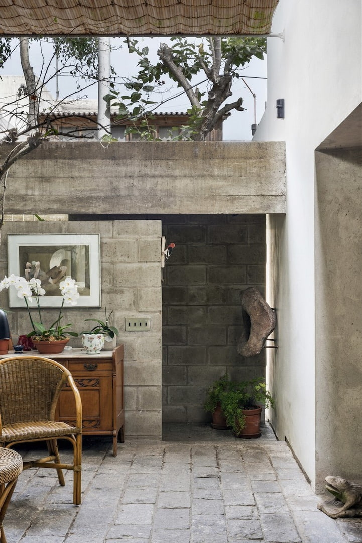 ghezzi novak's latest work in peru shifts into a concrete volume filled with plants