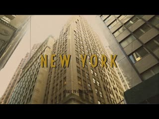 From new york with love: video lookbook fall '19