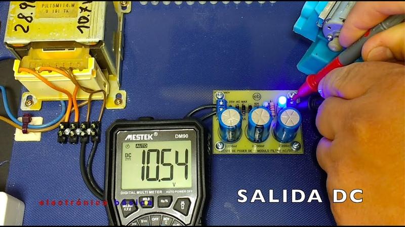 Fuente de poder de voltaje fijo Módulo filtro AC DC