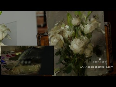Painting Flowers in oil