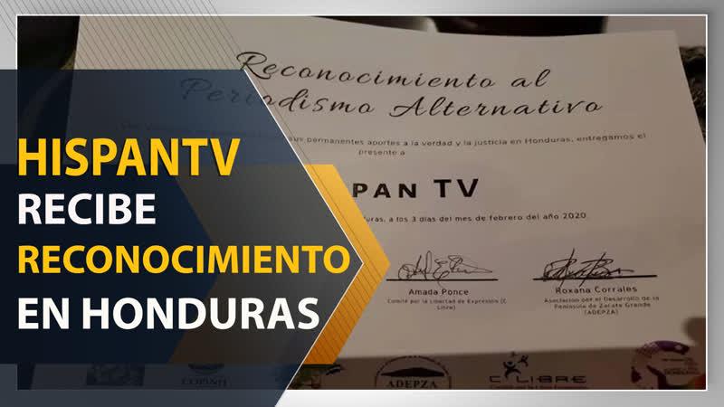 HispanTV recibe reconocimiento en Honduras