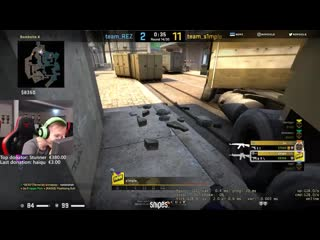 S1mple sick knife feat ropz -- steel 200iq smoke -- big xantares clutch 1v4 -- csgo twitch clips #10 (online-video-cutter.com)