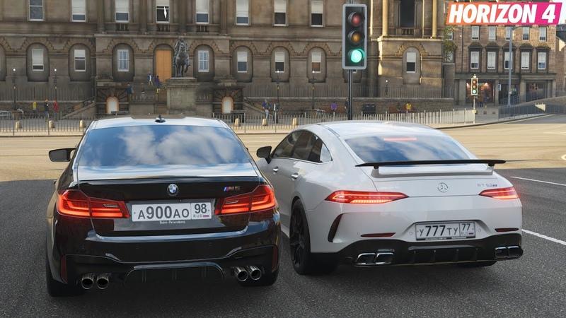 Forza Horizon 4 - Mercedes-AMG GT63 S 4MATIC 4 Door vs BMW M5 F90 Gameplay