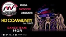 HD COMMUNITY - 1st place | TEAM PROFI | MOVE FORWARD DANCE CONTEST 2018 [OFFICIAL 4K]