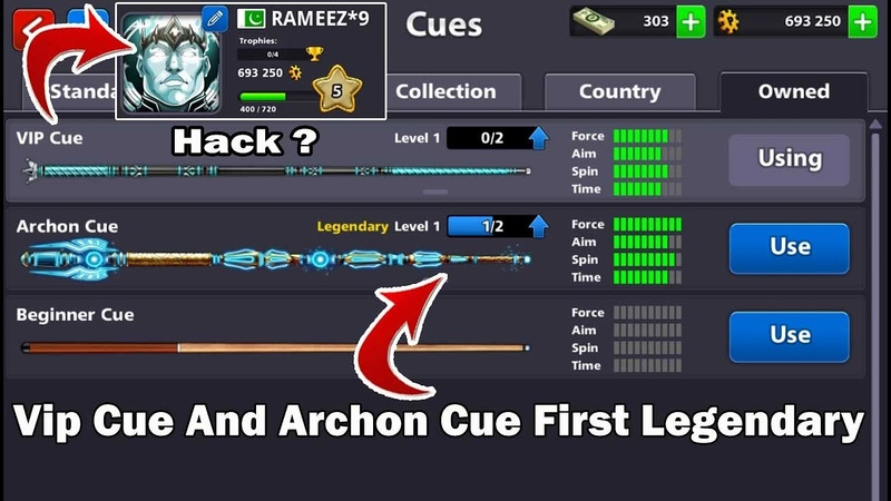 8 ball pool Level 5 Vip Cue 😨 Open Archon Cue First Legendary