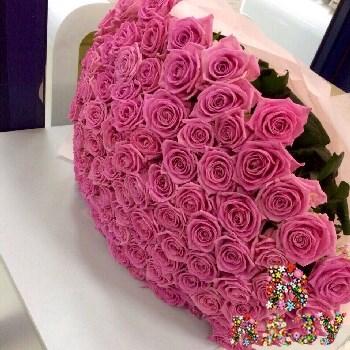 Корзина из 101 бело-розовой розы купить в Красноармейске