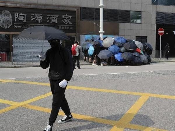 Hong Kong False Flag Umbrella Revolution LED 5G Staged Takedown