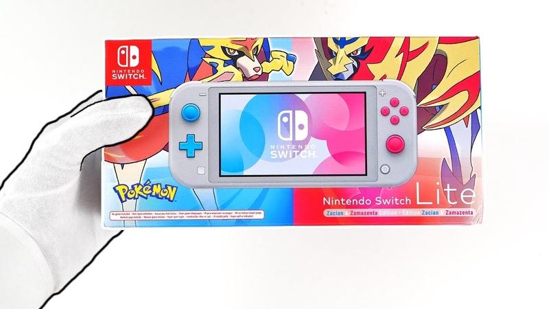 Nintendo Switch Lite POKEMON SWORD SHIELD Console Unboxing - Limited Edition Zacian Zamazenta