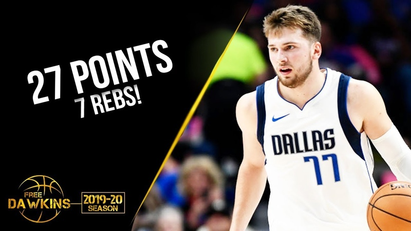 Luka Doncic Full Highlights 2019.10.11 Mavs vs Bucks - 27 Pts, 7 Rebs! | FreeDawkins