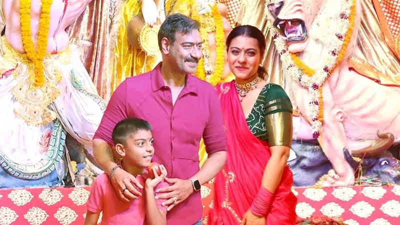 Ajay Devgan Kajol Wid Family: Son Yug Devgn Celberates Durga Puja Festival 2019 In Juhu