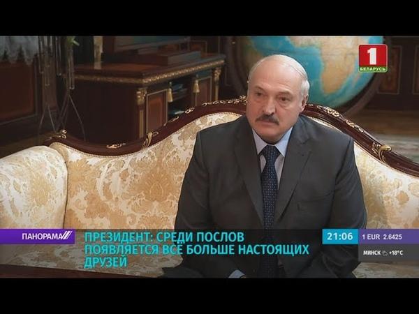 Лукашенко у нас всё больше появляется среди послов настоящих друзей Панорама