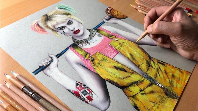 Harley Quinn Drawing Birds of Prey Timelapse Artology