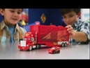 Disney Pixar Cars Mini Racers Mack Transporter with Mini Lig facebook